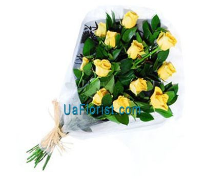 """A bouquet of 13 yellow import roses"" in the online flower shop uaflorist.com"