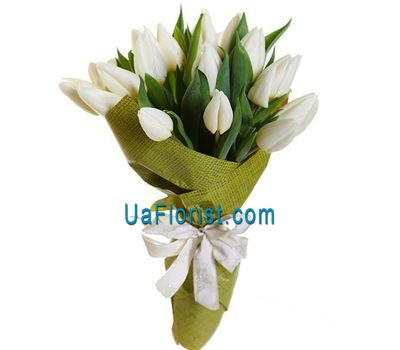 """Bouquet of 17 tulips"" in the online flower shop uaflorist.com"