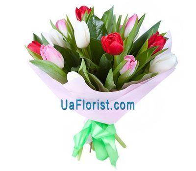 """A bouquet of 11 tulips"" in the online flower shop uaflorist.com"