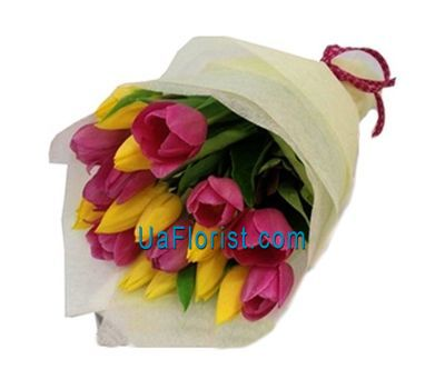 """Bouquet of 19 tulips"" in the online flower shop uaflorist.com"