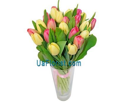 """Bouquet of 23 tulips"" in the online flower shop uaflorist.com"