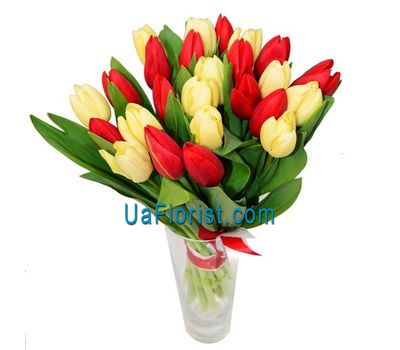 """Bouquet of 27 tulips"" in the online flower shop uaflorist.com"