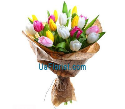 """Bouquet of 21 tulips"" in the online flower shop uaflorist.com"