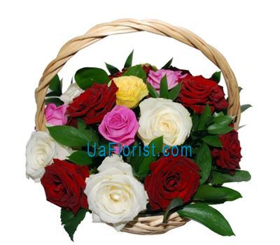 """Corolioz of 19 roses"" in the online flower shop uaflorist.com"