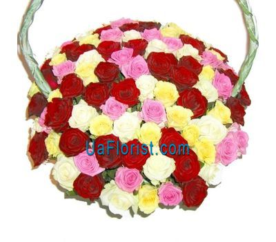 """Basket of 125 roses"" in the online flower shop uaflorist.com"