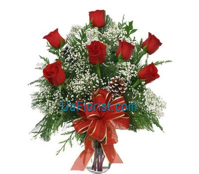 """""""Bouquet of flowers - Roses in the snow"""" in the online flower shop uaflorist.com"""