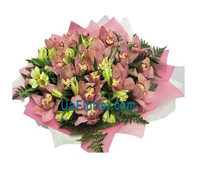 """""""Букет из 25 орхидей и 8 альстромерий"""" в интернет-магазине цветов uaflorist.com"""