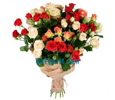 """Bouquet of 15 bush roses"" in the online flower shop uaflorist.com"