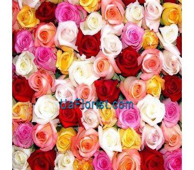 """""""Разноцветные розы поштучно"""" в интернет-магазине цветов uaflorist.com"""