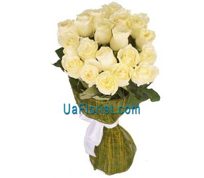 """""""Bouquet of 17 white import roses"""" in the online flower shop uaflorist.com"""